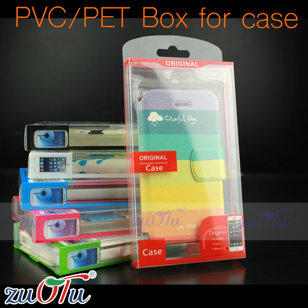 2016 New Style clear plastic packing box pvc/pet packing box for phone cover