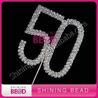 wedding double number rhinestone cake topper birthday cake topper
