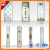 Colored Bevel Glass for Insulated Glass Door Inserts , Inlaid Glass