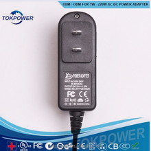 wall type 12v 3a ac dc power supply adaptor with CE UL FCC Rohs certificate