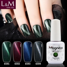 L&M Cheap wholesale Soak off Cat eye color Gel Nail Polish china
