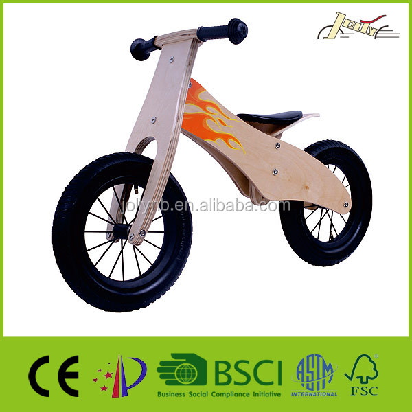 "Flame 12"" Wooden Toy Bike for Children Walking"