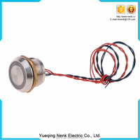 LED Metal 25mm push button switch 16mm PS19A ring illuminated ,stainless steel push button switch