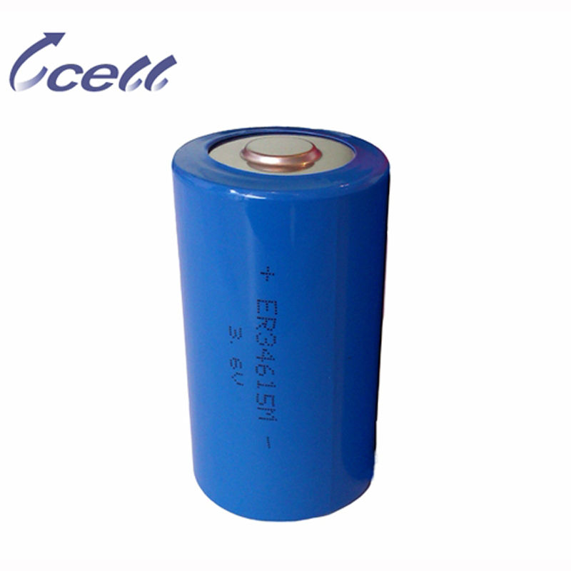 D 3.6V 20000mAh ER34615 Spiral Type Primary Lithium Battery