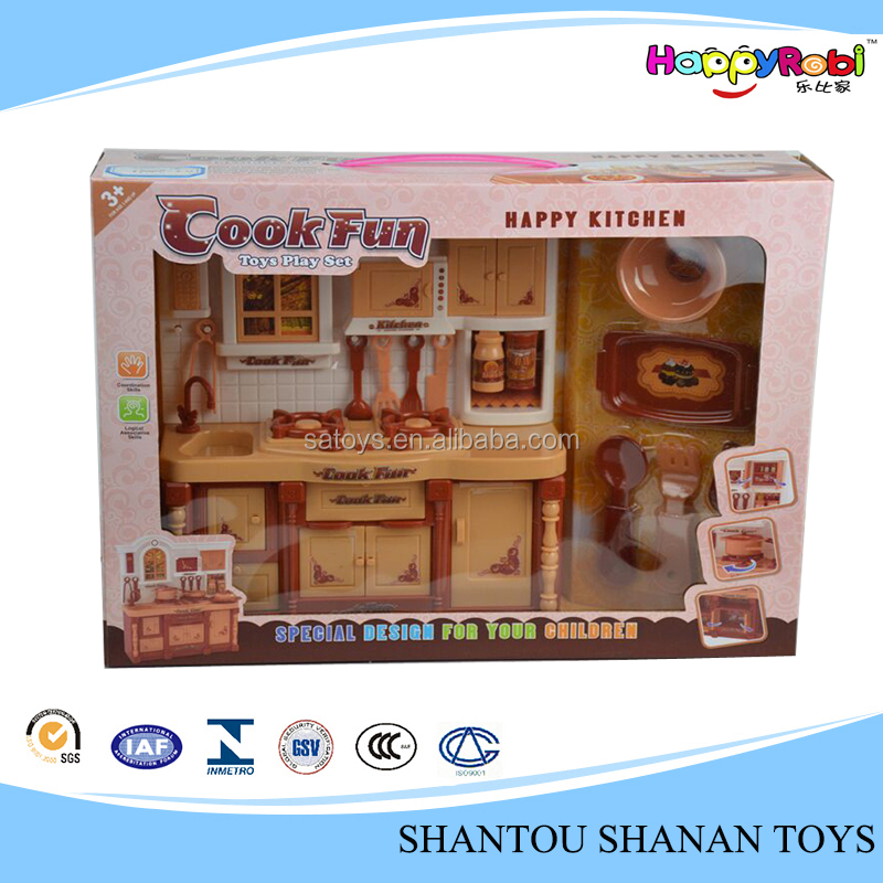 Cute funny educational mini toy kids kitchen play set