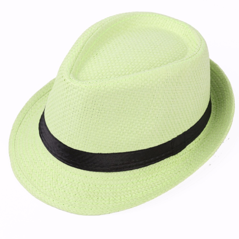 factory wholesale paper ladies men unisex green panama straw hat