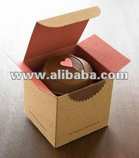 Kraft Brown paper Cupcake box Eco friendly