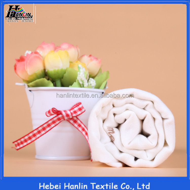 Hanlin Tex 100% cotton muslin fabric double layer gauze fabric supplier