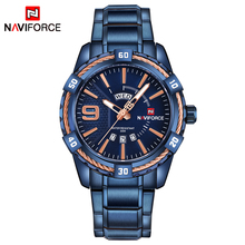 Naviforce 9117 Luxury Watches Stainless Steel Military Heavy Dial Day Date Clock Man Fashion Casual Top Brand Men Quartz Watch