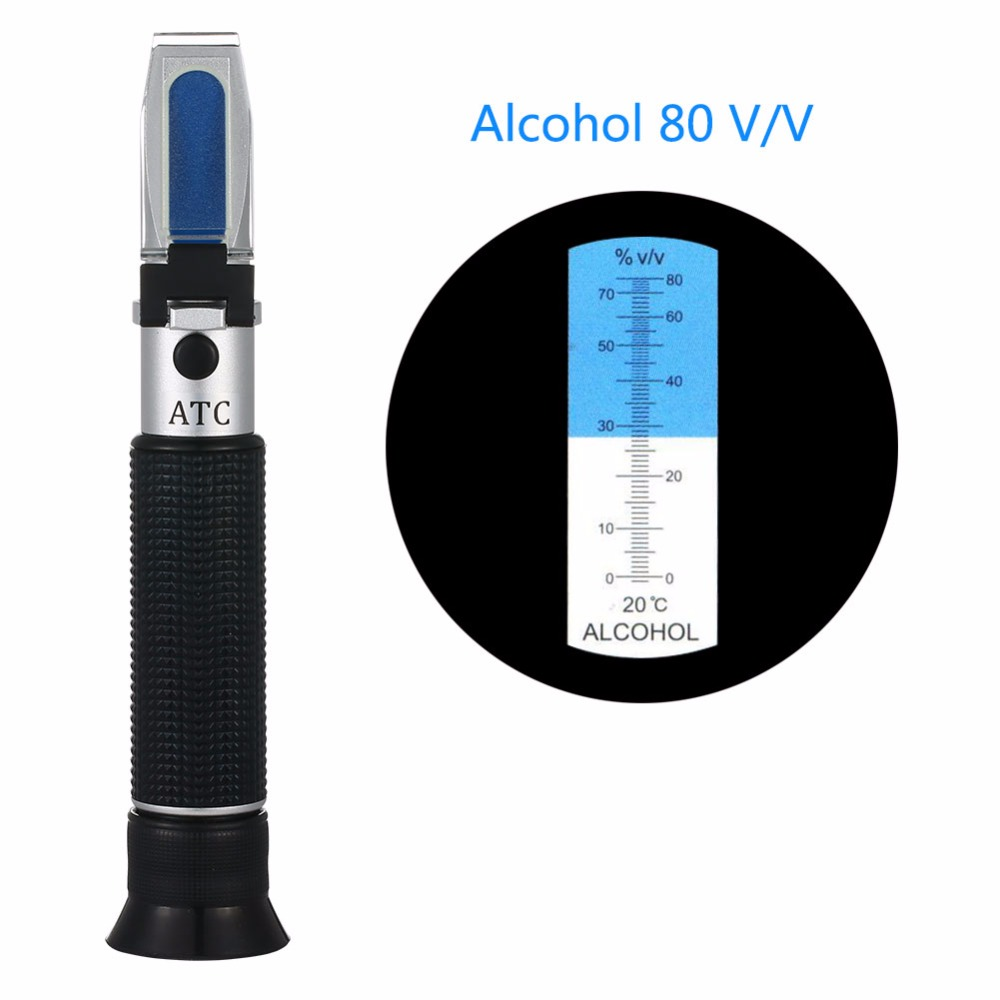 Portable alcohol0-80% grape Hand-Held Wine Refractometer low Price