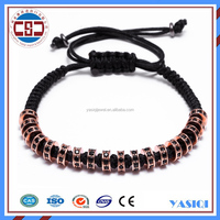 2016 Manufacturer fashion jewelry rose gold plated stainless steel bracelet