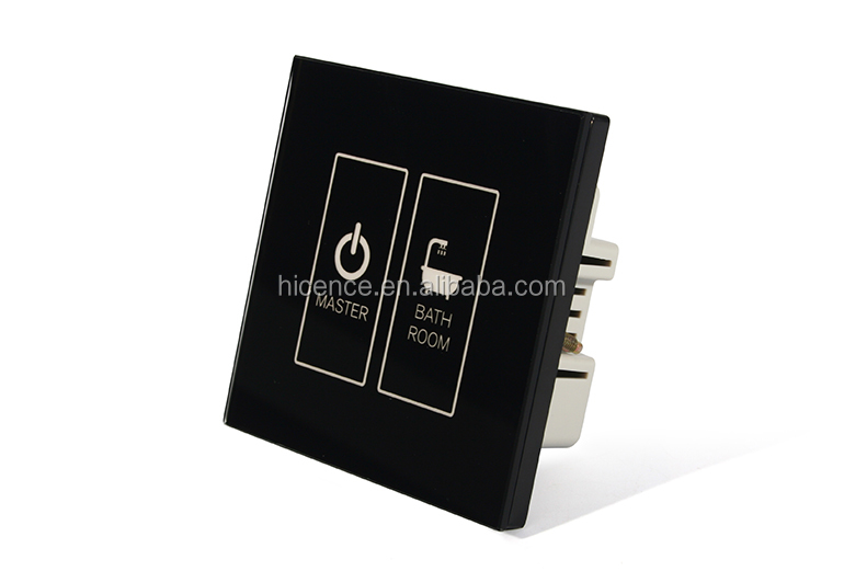 Tempered glass touch panel hotel switch