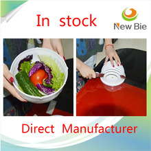 New Product Portable Creative Fruit Salad Bowl Set Modern Clear Plastic Salad Bowl