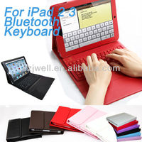 leather case bluetooth keyboard for ipad 2/3