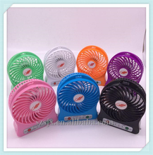 New 2017 Product idea Usb Table Rechargeable Mini Fan With Led Lights