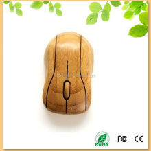 china factory high-tech cute bamboo wireless optical mouse from Shenzhen