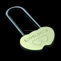 2015 Best selling Silver Solid brass lock , Double Heart Love Padlock for Chirstmas love gift