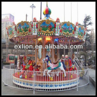 theme park deluxe kids ride carousel playground equipment merry go round/luxury merry go round