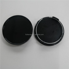 Custom Auto ABS Black 75mm Blank Wheel Rims Centre Hub Cap