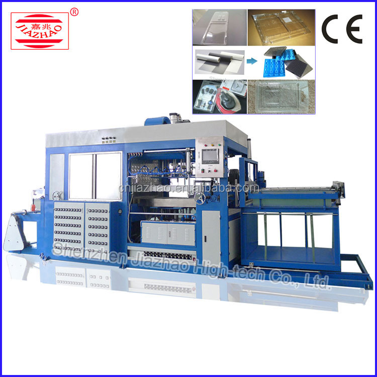 High speed automatic plastic clamshell thermoforming machine