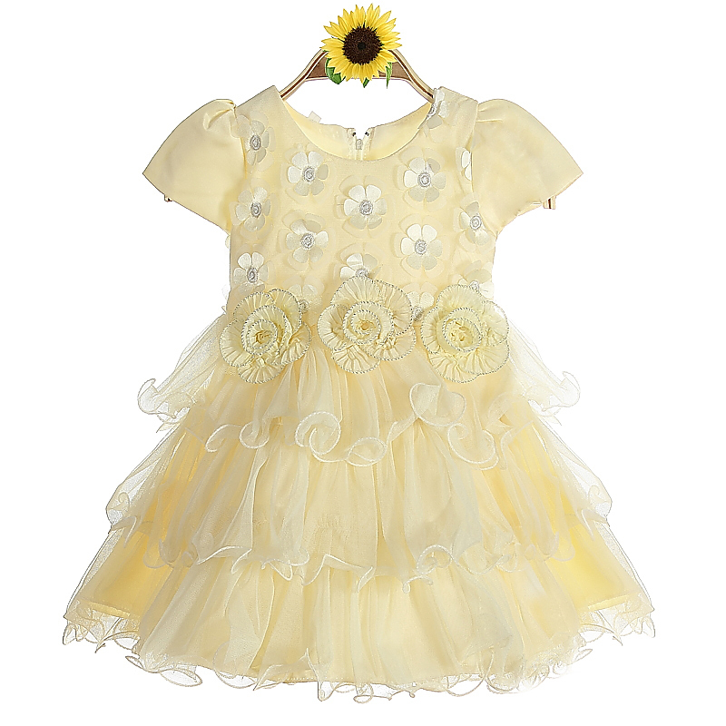 hot girl layer dance wear young leafs girls infant flower girl dresses child garment online shopping