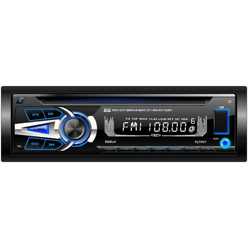 (FY7057) 1 din detachable panel multi-media car DVD player audio stereos with BLUETOOTH/DVD/VCD/CD/MP4/MP3/AM/FM