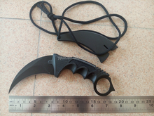 NEW Tactical Karambit Military Combat Knife Survival Claw Bowie Machete + Sheath/Hunting Camping Knife