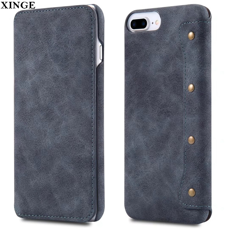Oem Universal Smart Phone Wallet Style Leather Cell Case With Business Card Holder For Iphone X 7 6 8