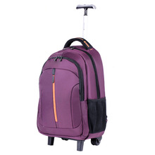 high quality school backpack bag with wheels for kids or adult