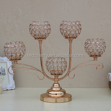 Ou shi long ideas golden crystal candlestick fashion hotel supplies five furnishing articles romantic warmth
