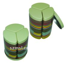 Round Can for Three Triangular Cans with Round Tray Set