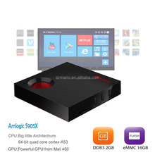 Android 7.1 TV Box Quad Core OTT TV Box Amlogic S905X Media Player HD 4K 2.4/5Ghz WiFi Set Top Box