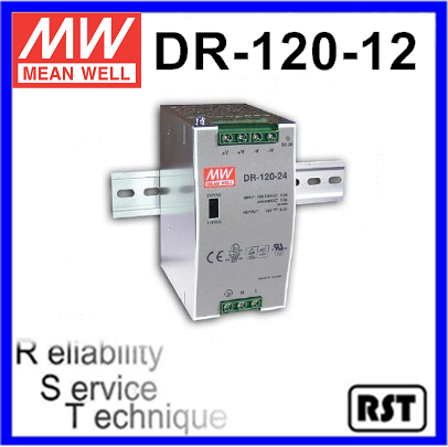 DR-120-12 Single Output Taiwan Mean Well 120W 12V Industrial DIN Rail Power Supply