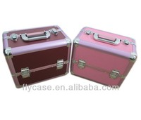 right-angle or rounded aluminum makeup case with lock,aluminum cosmetic case