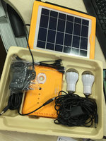 5W portable and small solar power system home lighting kits with mobile charge for camping and travelling