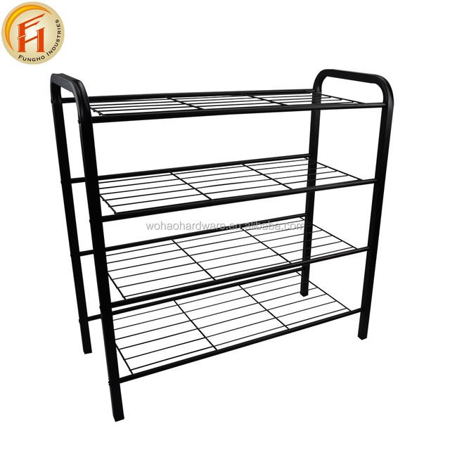 3 tier metal wire shoe rack_Yuanwenjun.com