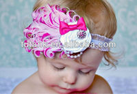 baby headband wholesale rose white feather