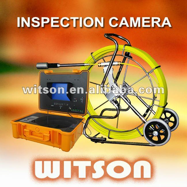 WITSON 50mm sel-leveling metal camera pipe weld inspection with built-in transmitter sonde
