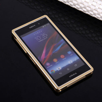 Premium Metal Aluminium Bumper Case + Back Cover for Sony Xperia Z2