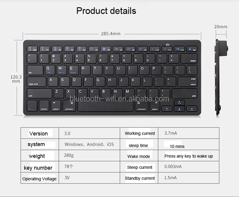100% Original US Version Wireless Bluetooth keyboard For Apple A1314