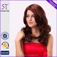 100 japanese synthetic fiber multicolor red synthetic wig for human hair