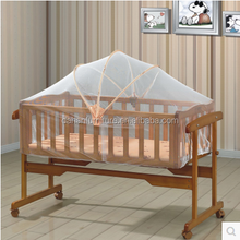 Cheapest Multifunction wood rocking baby crib