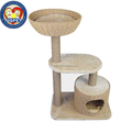 Aimigou paper rope knitted cat tree jute cat scratchig post
