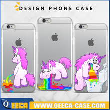 Unicorn Barf Throw Up Clear Phone Case For iPhone 6, SE, 6 Plus, 6S, 5, 5C, 5S Custom Print Case