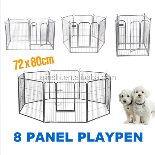 Pet dog playpen exercise cage puppy crate Fence portable Foldable outdoor