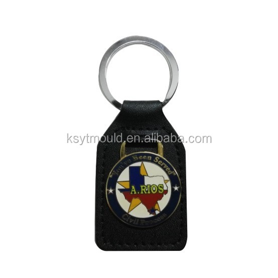 Wholesale Custom Keyring Masonic Key FOB Leather Keyring