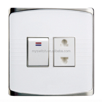 factory hot selling Pakistan design wall switch 1 gang+ 1 socket
