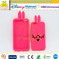 Customized fashion silicone back cover phone accessory cute mobile phone case