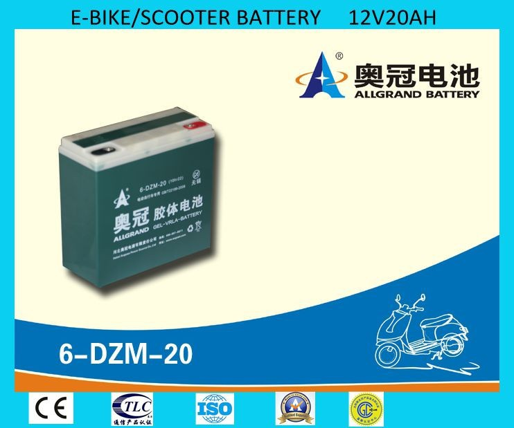 6-DZM-20 Escooter Battery- 12V20Ah Rechargeable Sealed Lead Acid Battery for E-bike/escooter