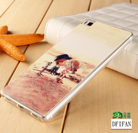 Sweet kiss 3D relief printing tpu case for huawei P8 sublimation case for Huawei Ascend P8